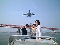 飛行機見学